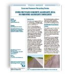 Using recycled concrete aggregate (rca) in unbound aggregate shoulders