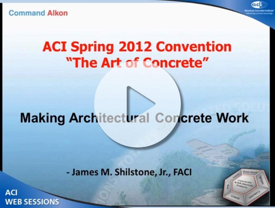 James Shilstone – «Hormigón Arquitectónico»