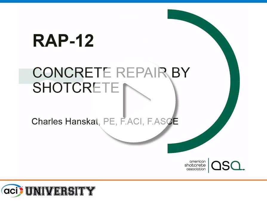 Charles Hanskat – «Reparación de Hormigón con Shotcrete»