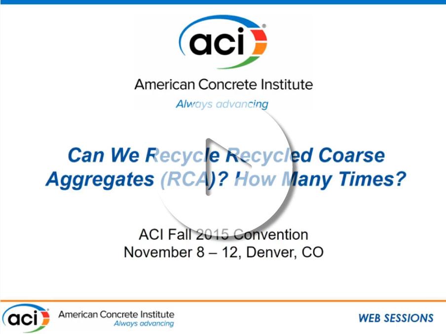 """""""¿Podemos reciclar agregados gruesos reciclados? ¿Cuántas veces?"""""""