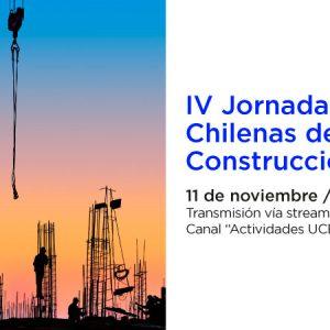 ICH te invita a participar en las próximas Jornadas Chilenas de la Construcción