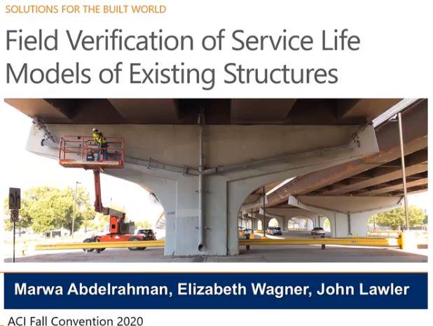 Verificación in situ de modelos de vida útil en estructuras existentes