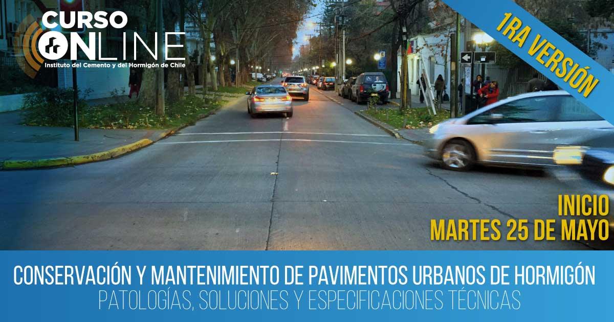 Conservación y mantenimiento de pavimentos urbanos de hormigón