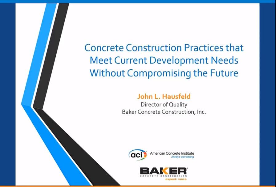 Prácticas en la construcción con hormigón que cumplen con las necesidades actuales de desarrollo sin comprometer el futuro