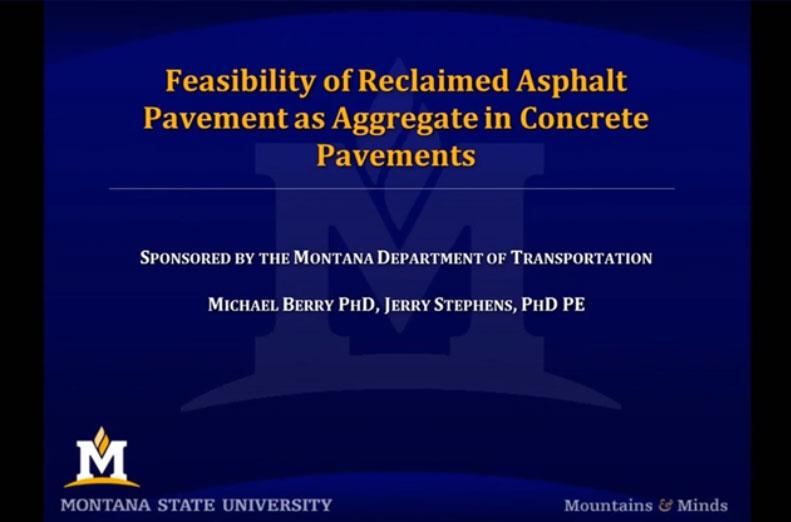 Viabilidad de pavimentos reciclados de asfalto como áridos para pavimentos de hormigón