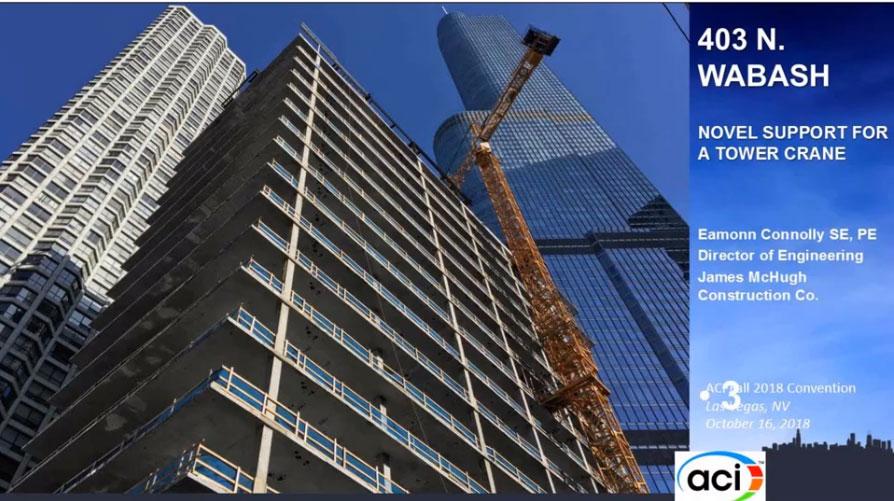 Edificio 403 – Un novedoso soporte para una grúa torre
