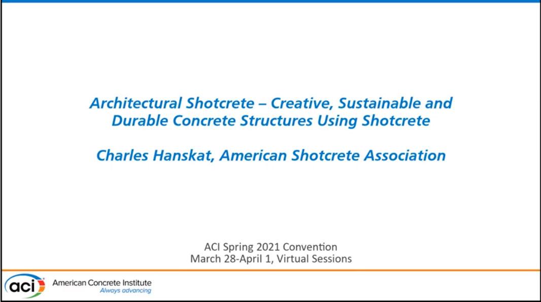 Shotcrete arquitectónico – Estructuras creativas, durables y sostenibles utilizando shotcrete
